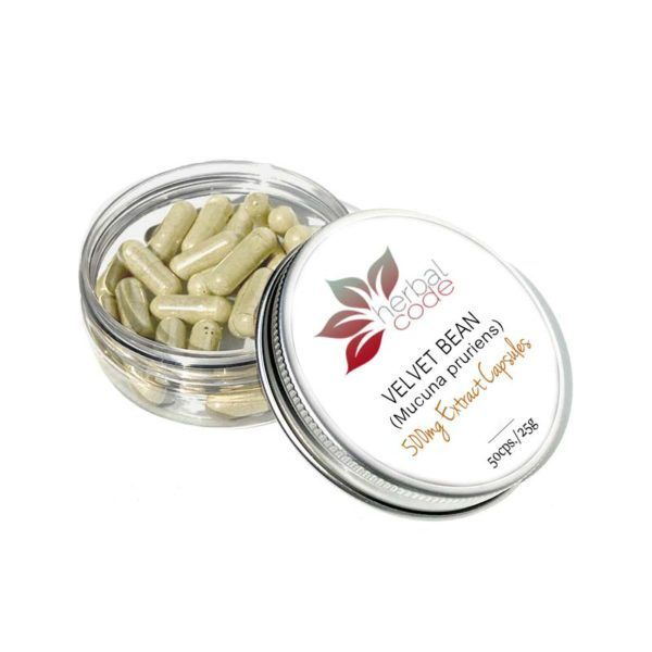 Velvet Bean (Mucuna pruriens) 500mg Extract Capsules
